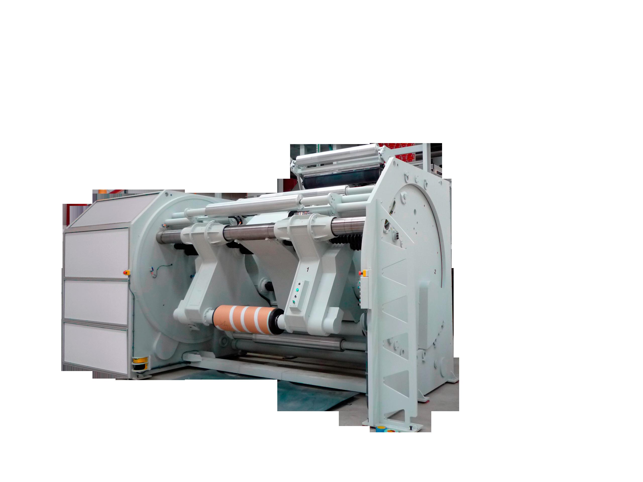 Non-stop shaftless Rewinder Type MRT / LRT